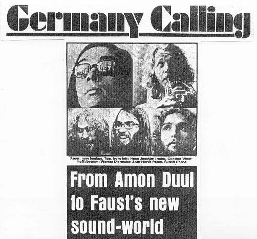 Germany Calling: From Amon Duul to Faust's new sound-world